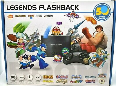 LEGENDS FLASHBACK BOOM! HDMI Game Console, with 50 Built-In, Black