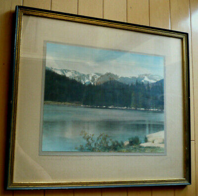STANDLEY, Colorado Springs LISTED hand tinted ANTIQUE COLORED PHOTOGRAPHY LAKE