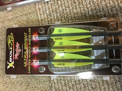 """NEW 3 VICTORY CROSSBOW BOLTS ( 3  LIGHTED NOCKS IN Bolts) 20"""" long   RED"""