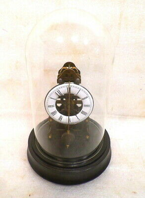 Zappler Clock With Crown Wheel Escapement & Pendulum In Front Of Dial-Glass Dome