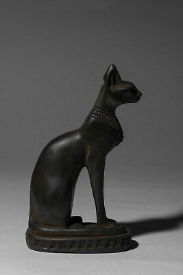Ancient Egypt Egyptian Antique Gods Bastet Cat Ubasti Pharaoh Carved Stone BC