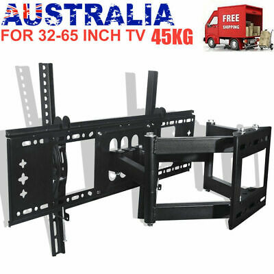 TV WALL MOUNT BRACKET LCD LED Plasma Flat Slim Pivot/Swivel Arms & Tilt AU