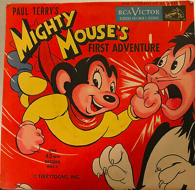 Mighty Mouse's First Adventure - RCA Victor 45 RPM - Bluebird Children's Records