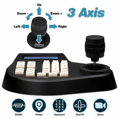 Trunite 3 Axis CCTV Keyboard Joystick Controller RS485 for PTZ Security Camera