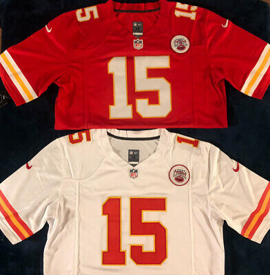 #15 Patrick Mahomes Mens Jersey Red Home OR White Away Kansas City Chiefs Jersey