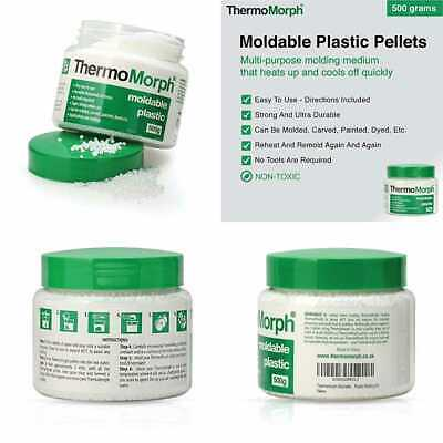 Moldable Plastic Pellets 17.6 OZ 500G Reheatable Reusable Remoldable Crafting Sc