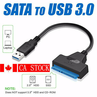 "USB 3.0 To 2.5"" SATA III Hard Drive Adapter Cable-SATA To USB Converter-Black"