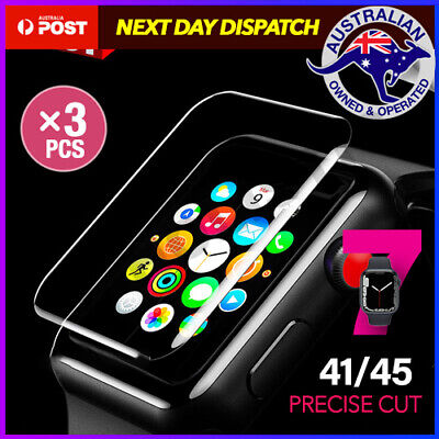 3x AQUA Screen Protector for Apple Watch Series 5 1/2/3/4 38/42mm 40/44mm iWatch