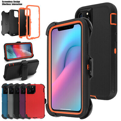 For iPhone 11 Pro Max Shockproof Hybrid Heavy Duty Case W/ Belt Clip Stand Cover