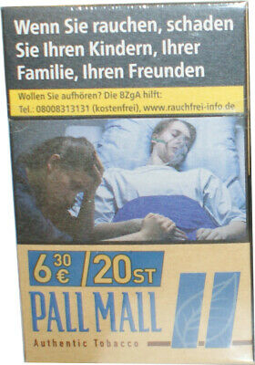 10 x Pall Mall Authentic Tabacco Zigaretten Blue 10x20=200 Preis  6,30€
