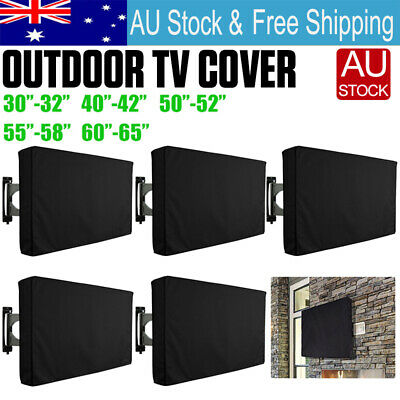 "32""-65"" Inch Waterproof TV Cover Outdoor Patio Flat Television Protector Black"