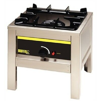Buffalo Big Flame Natural Gas Hob Stainless Steel Burner - L493  Catering
