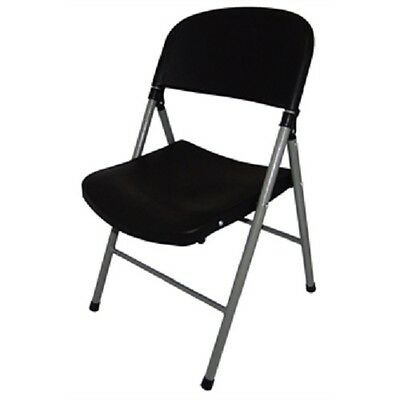Bolero Black Foldaway Utility Chair (Pack of 2) Catering Garden Indoors CE693