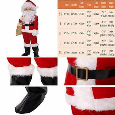 Children's Deluxe Santa Suit 10Pc. Christmas Child Claus Kids Halloween Costume