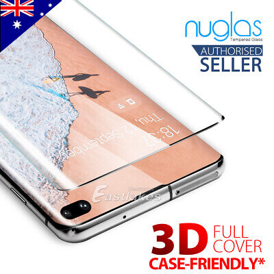 NUGLAS Samsung S10 5G Plus S10e Note 10 Tempered Glass Full Screen Protector