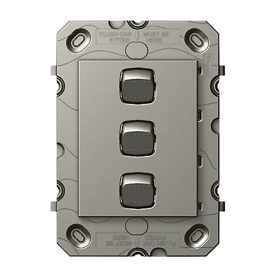 HPM ARTEOR 3 Gang Wall Switch - Grid Only - AUSTRALIA BRAND