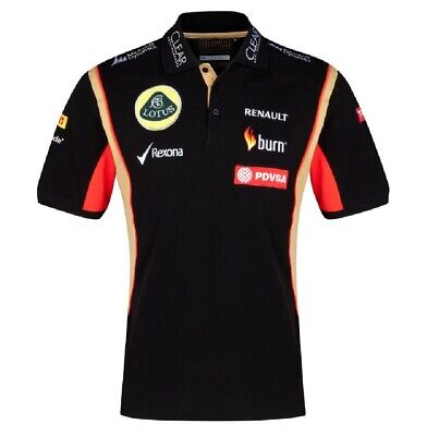 POLO Shirt Adult Formula One 1 Lotus F1 Team NEW! PDVSA Sponsor 2014/5 XSmall