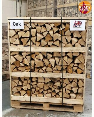 Jumbo Crate British Kiln Dried Oak Hardwood Firewood 'Ready To Burn' Logs Crate