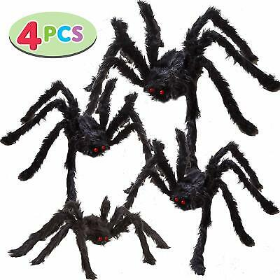 Giant Realistic Spider Big Hairy Halloween Prop Decoration Indoor Outdoor Set