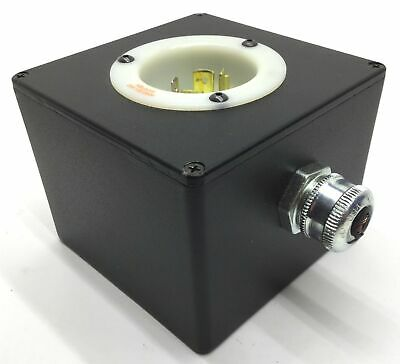 Hubbell HBL2415 20A, 125/250V Turn-Locking Male Receptacle & Enclosure *5 Holes*