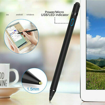 UK Digital Active Stylus Pen Pencil for Apple iPad Touchscreen Fine Tips 1.5 mm