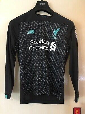 NEW BALANCE Liverpool Football Club Long Sleeve Jersey Size LB- 12-13 Years