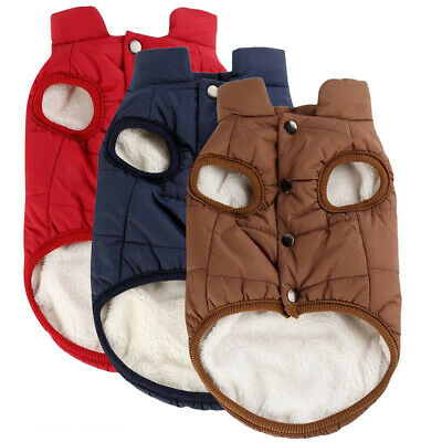 Winter Large Pet Dog Warm Clothes Puppy Chihuahua Coats Fleece Jackets Vest New