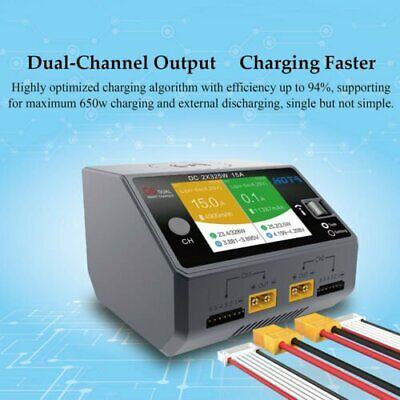 HOTA D6 Dual Channel Smart Charger 2*DC325W 15A for Lipo NiMH Battery Phone SALE