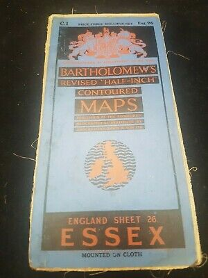 Antique Bartholomew,S Map Of Essex England
