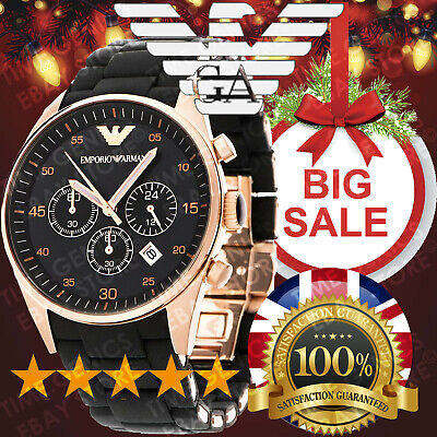 New Genuine Emporio Armani Ar5905 Mens Rosegold Watch 2Y Warranty Christmas Sale