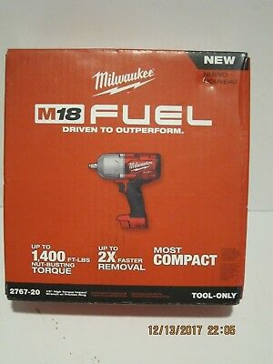 """Milwaukee 2767-20 M18 FUEL ½"""" Impact Wrench W/Friction Anneau 1400 lbs Torque"""