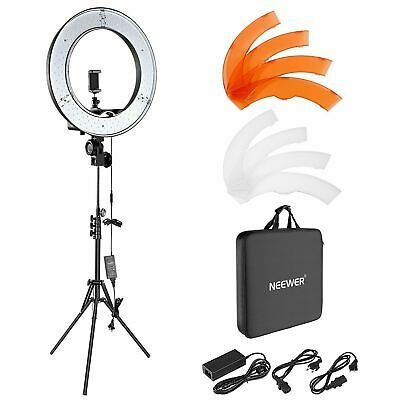 """Neewer Ring Light Kit:18""""/48cm Outer 55W 5500K Dimmable LED, Stand, Carrying Bag"""