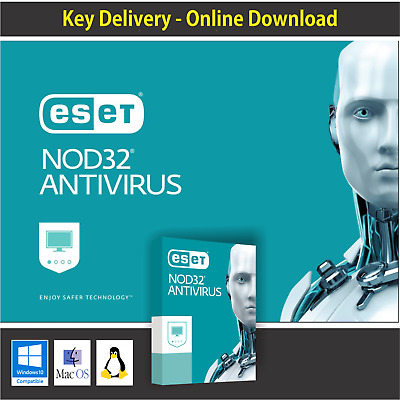 Antivirus Eset NOD32  2019 1 Pc 3 Years Antivirus Fast Delivery Windows / MAC