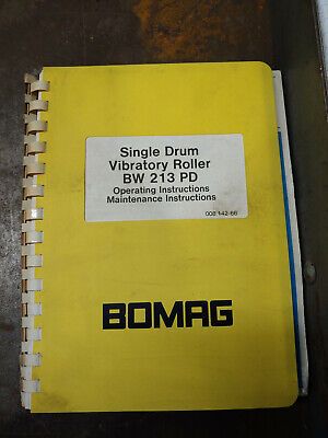 Bomag Bw213Pd Operating/Maintenance Instructions 00814266