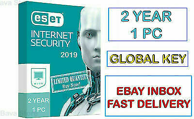 Antivirus Eset Internet Security  2019 1 Pc 2 Years Antivirus Global ✔ Win / Mac
