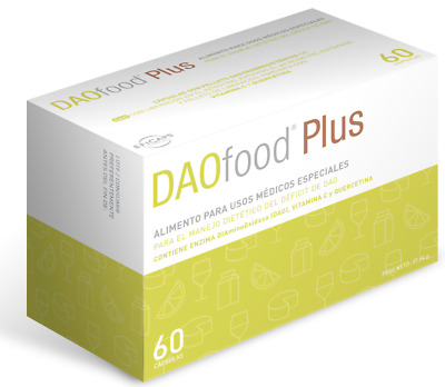 Daofood Plus 60 Caps. | Diamine Oxidase DAO. Dao Deficiency. Digestive.