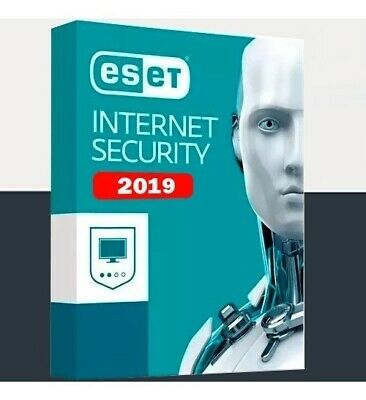 Antivirus Eset Internet Security  2019 1 Pc 1 Year Antivirus Global ✔ Win / Mac