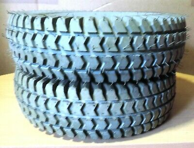 Mobility Scooter Tyres X 2. Cheng Shin Grey 400X4  4Ply.new
