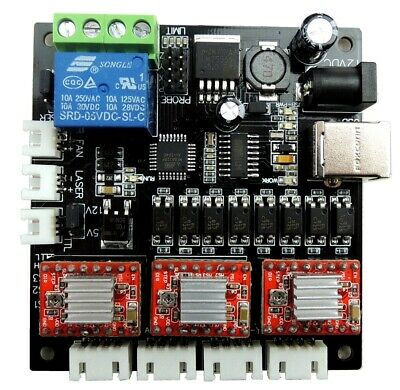 GRBL Laser Controller Board 3 Axis USB Motor Driver Control Stepper CNC Engrave