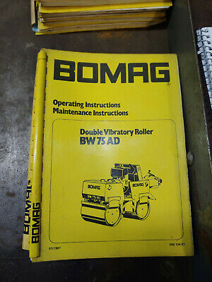 Bomag Bw75Ad Double Vibratory Roller Operating/Maintenance Instructions 00810487