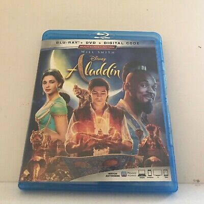 2019 Live Action Disney Aladdin with Will Smith Movie Blu-Ray Disc Only