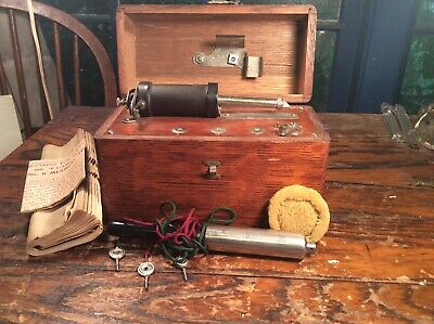 Antique Late 1800s No 6 Home Medical Apparatus with Accessories Oak And Catalog