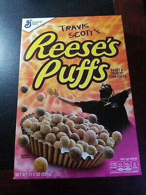 Travis Scott x Reeses Puffs Cereal 11.5 oz Box. Limited Edition New Box SOLD OUT