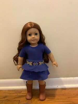 2013 American Girl Doll of the Year Saige Sparkle Outfit Gold BOOTS ONLY
