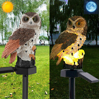 Outdoor Solar Power Garden Lights Owl Decor Path Lawn Yard LED Landscape Light