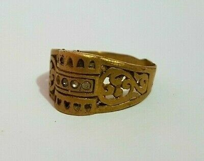 Rare Ancient Ring Roman Bronze Antique Authentic Very Stunning