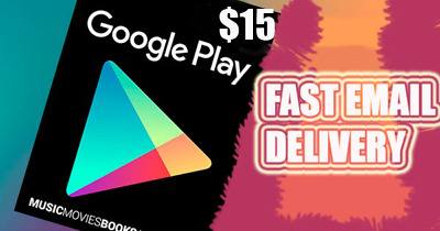 Google Play Gift Card 15 $ Fast Delivery after 10min