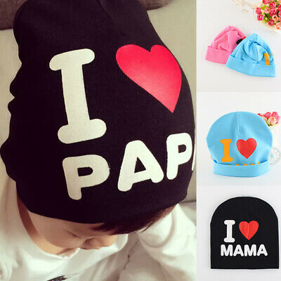 Baby Toddler Kids Boy Girl Winter Warm Cotton Blend Beanie Hat Cap Love for Mum