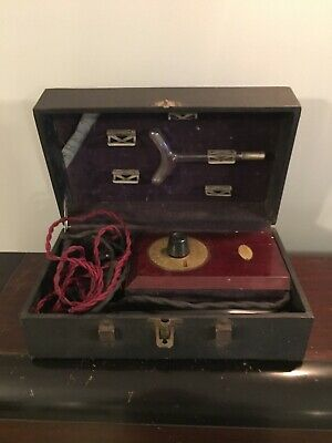 Vtg 1920s Shelton Violet Ray Type 202 Quack Medical Device Working AS IS