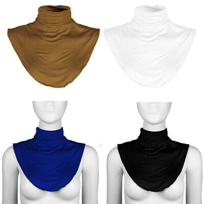 Womens Cotton Fake Turtleneck Half Top Mock Blouse Dickey Collar Neck Warmer New
